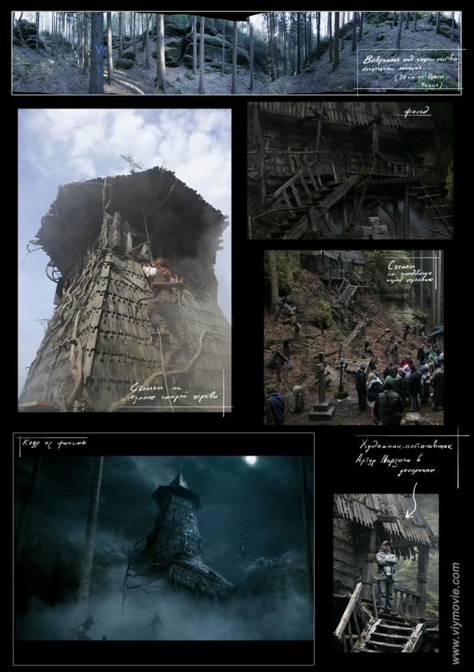 концепт-арты со съемок кадры из фильма Вий 3D