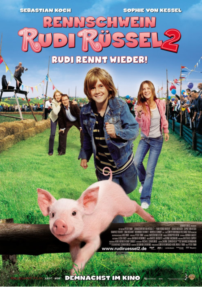 Руди - гончий поросенок / Rennschwein Rudi Ruessel 2 - Rudi rennt wieder / 2007 / DVDRip