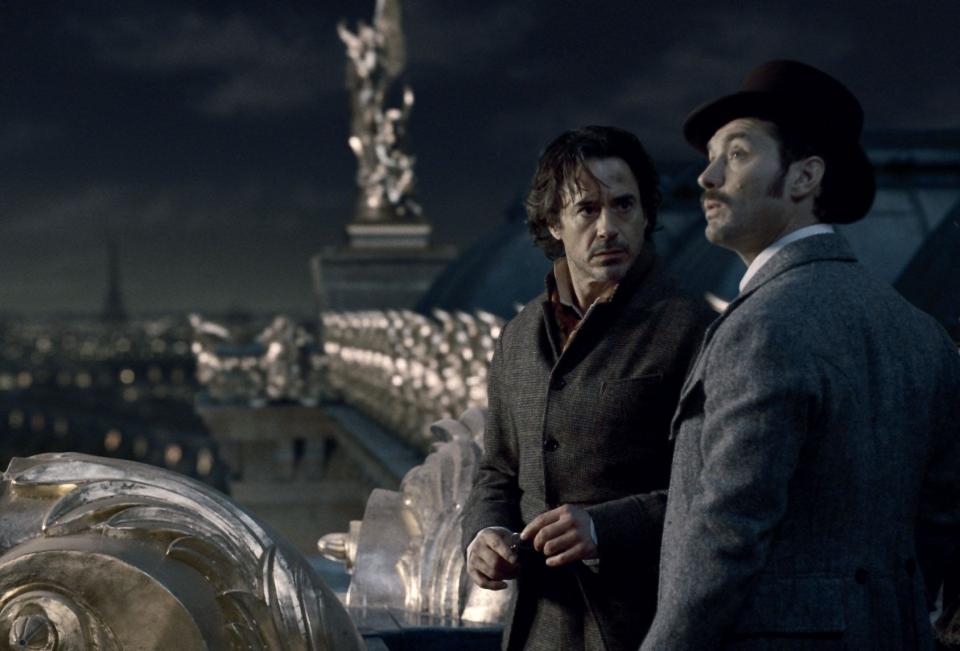 кадры из фильма Шерлок Холмс: Игра теней Роберт Дауни-мл., Джуд Лоу,