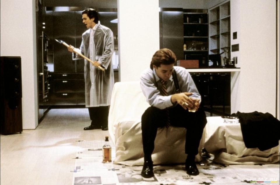 кадры из фильма Американский психопат Джаред Лето, Кристиан Бэйл,