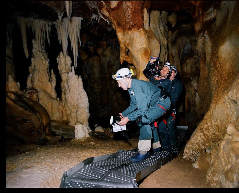 со съемок Пещера забытых снов Вернер Херцог,