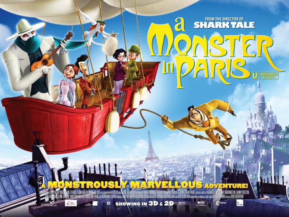 плакат фильма биллборды Монстр в Париже