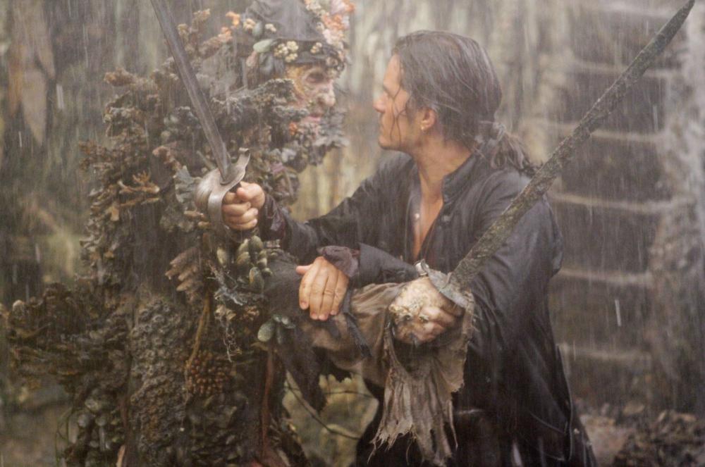кадры из фильма Пираты Карибского моря: На краю света Орландо Блум, Стеллан Скашгод,