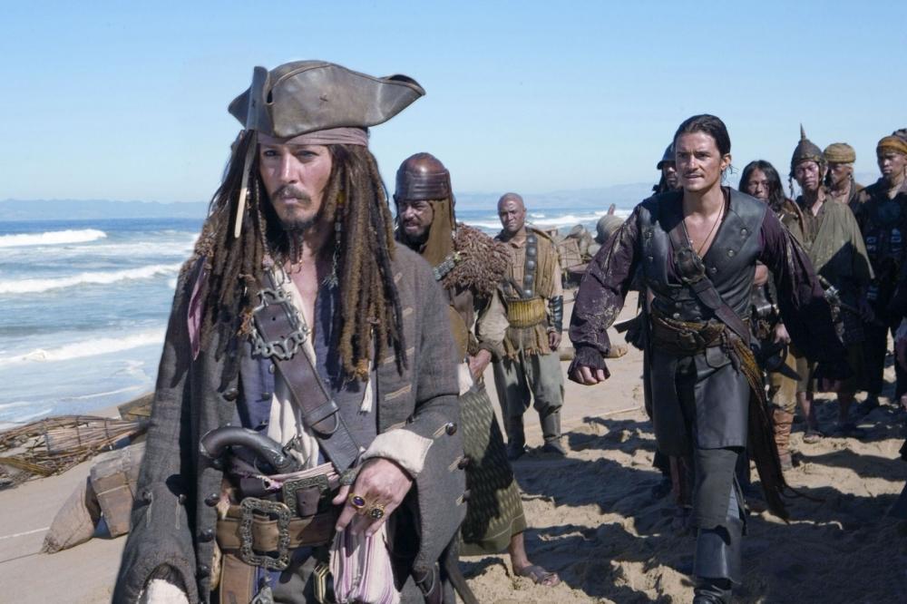 кадры из фильма Пираты Карибского моря: На краю света Орландо Блум, Джонни Депп,