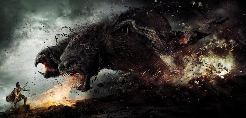 плакат фильма баннер textless Гнев титанов