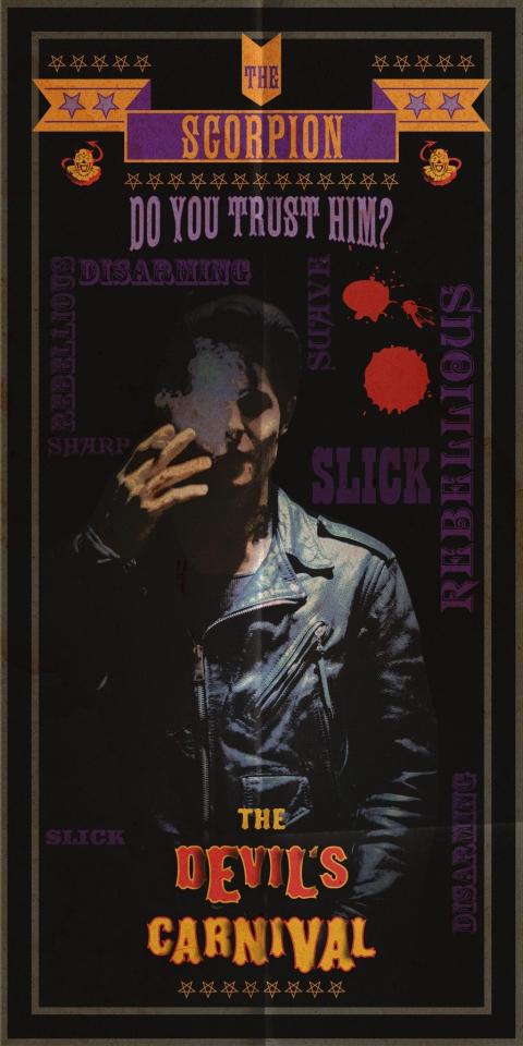 плакат фильма характер-постер Карнавал Дьявола*