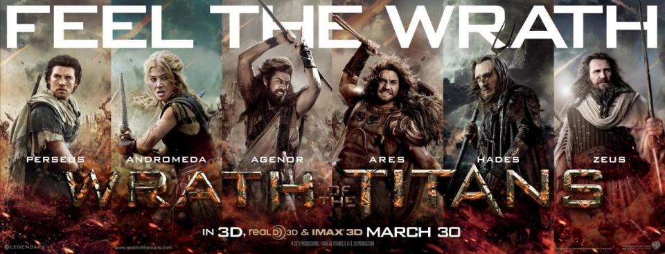 плакат фильма баннер Гнев титанов