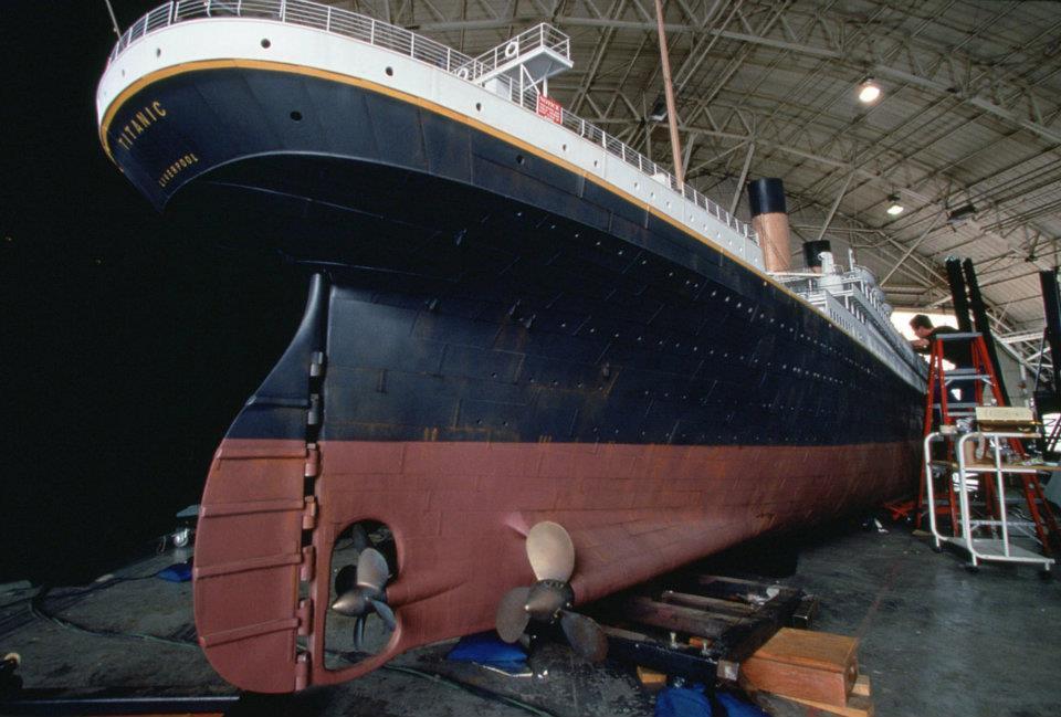 со съемок Титаник