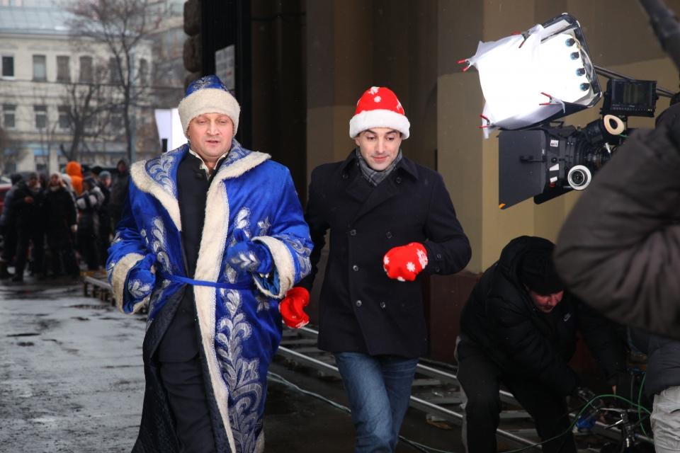 со съемок Невидимки Гоша Куценко, Илья Любимов,