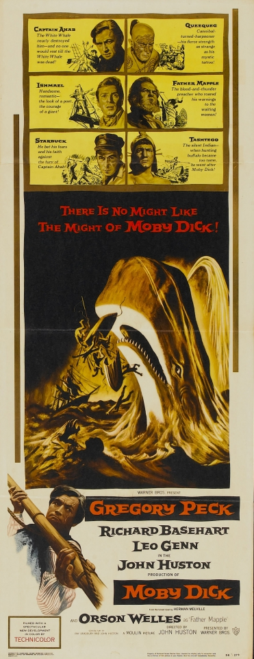 плакат фильма баннер Моби Дик