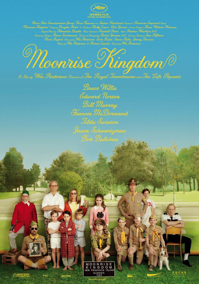 плакат фильма постер Королевство полной луны