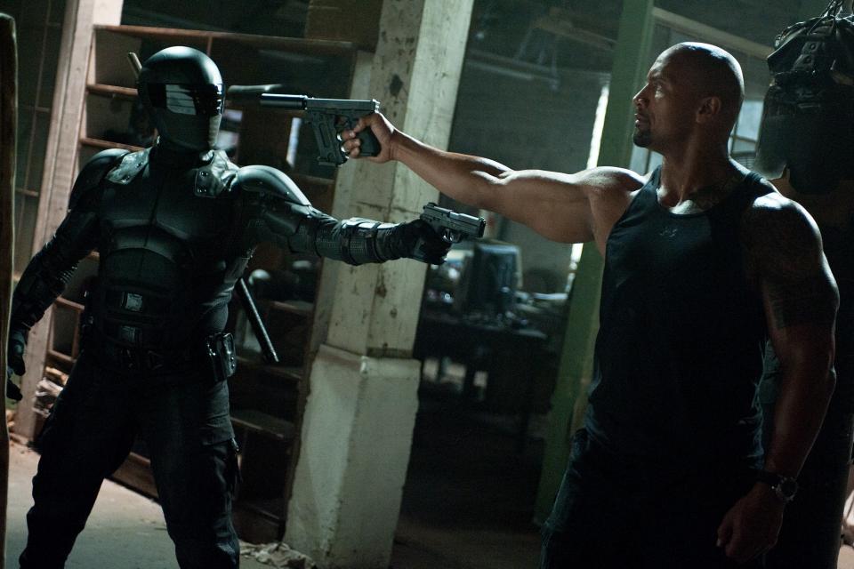 кадры из фильма G.I. Joe: Бросок кобры 2 Рэй Парк, Дуэйн Джонсон,