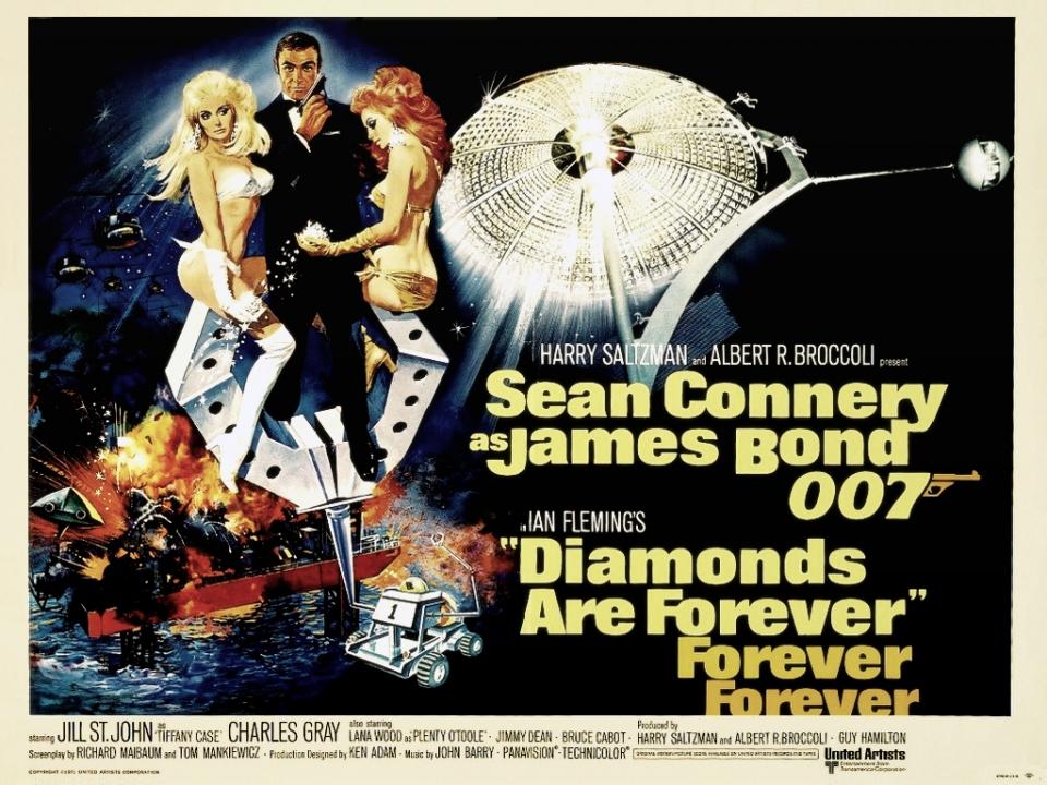 плакат фильма постер Бриллианты навсегда
