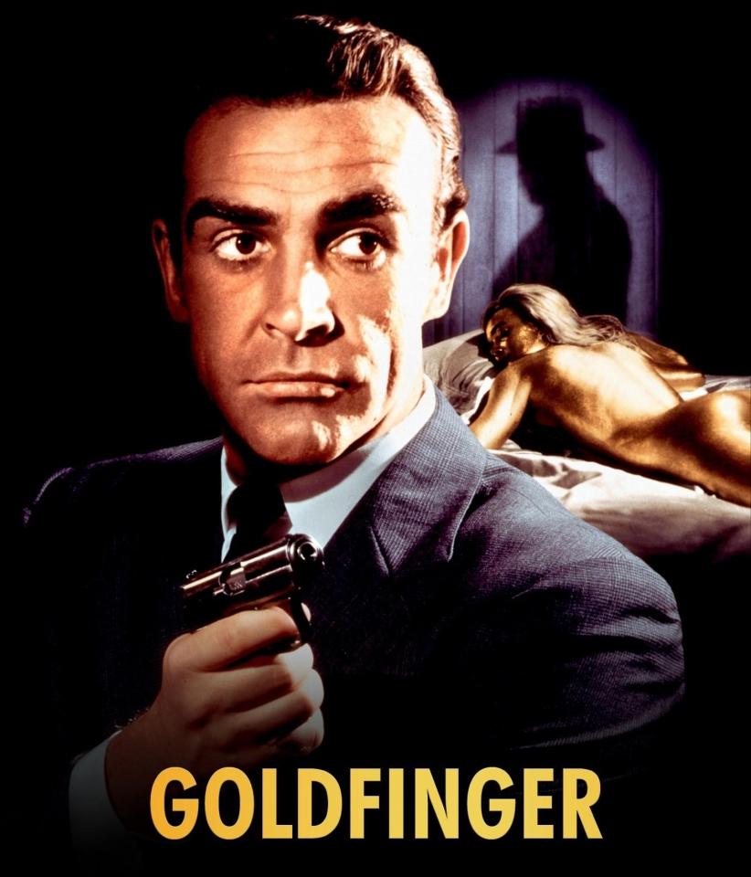 плакат фильма постер промо-слайды Голдфингер