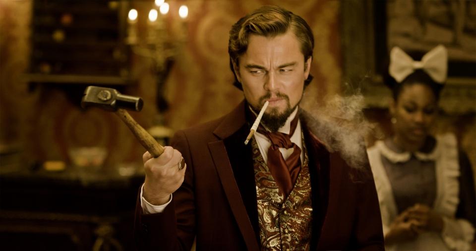 кадры из фильма Джанго освобожденный Леонардо ДиКаприо,