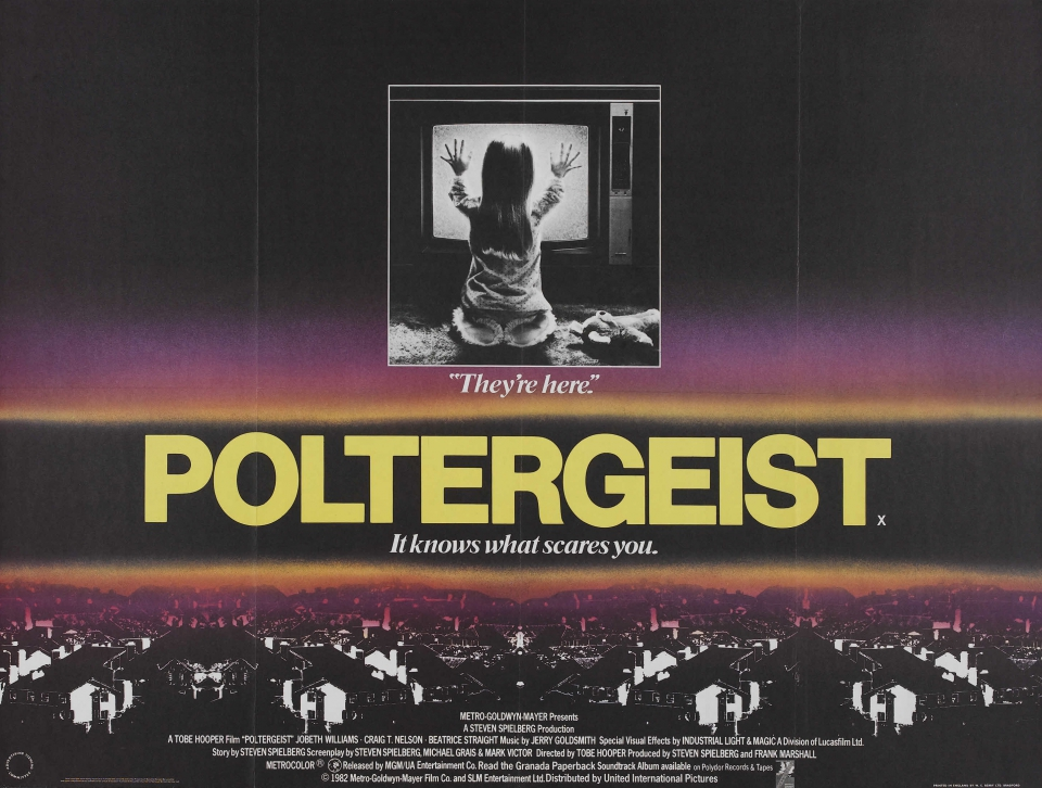 плакат фильма биллборды Полтергейст