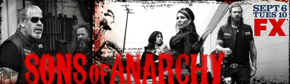 плакат фильма баннер Сыны Анархии