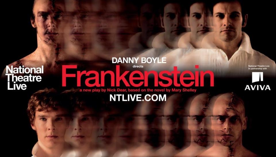 плакат фильма биллборды Спектакль «Франкенштейн» для National Theatre Live