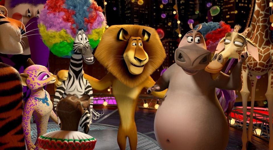 кадры из фильма Мадагаскар 3 в 3D Брайан Крэнстон, Джессика Честейн, Мартин Шорт, Крис Рок, Бен Стиллер, Джада Пинкетт Смит, Дэвид Швиммер,