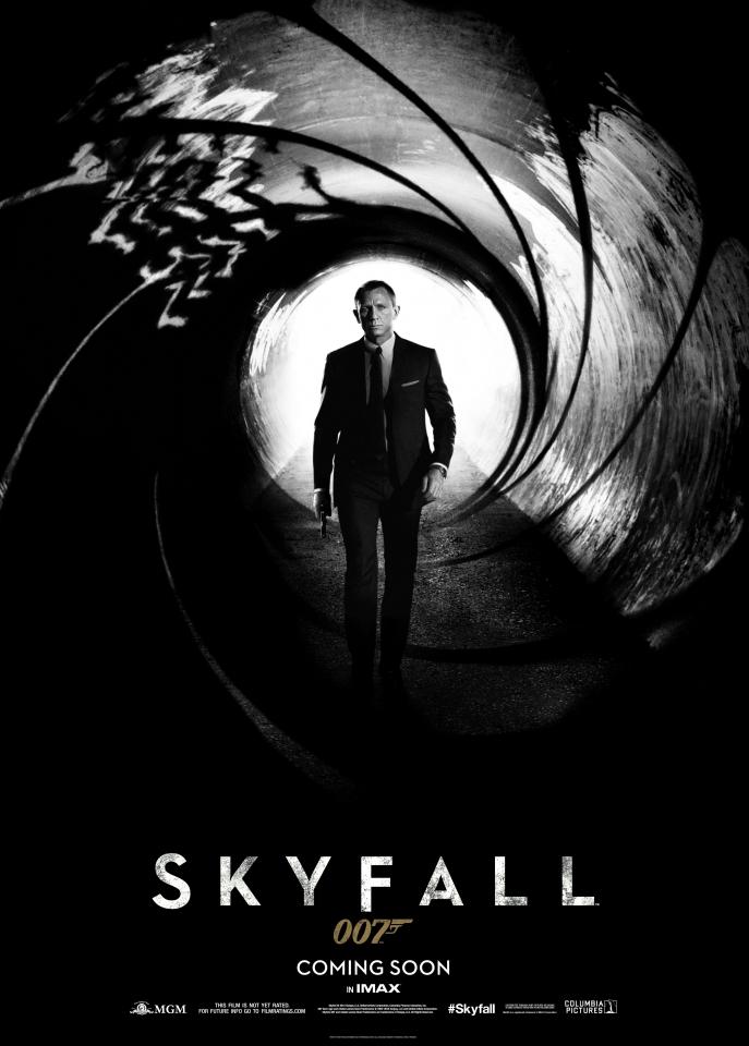 плакат фильма тизер 007 Координаты Скайфолл