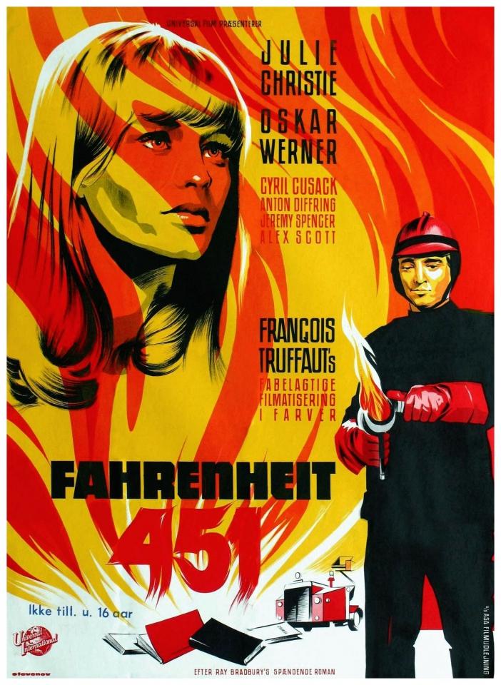 плакат фильма 451 градус по Фаренгейту