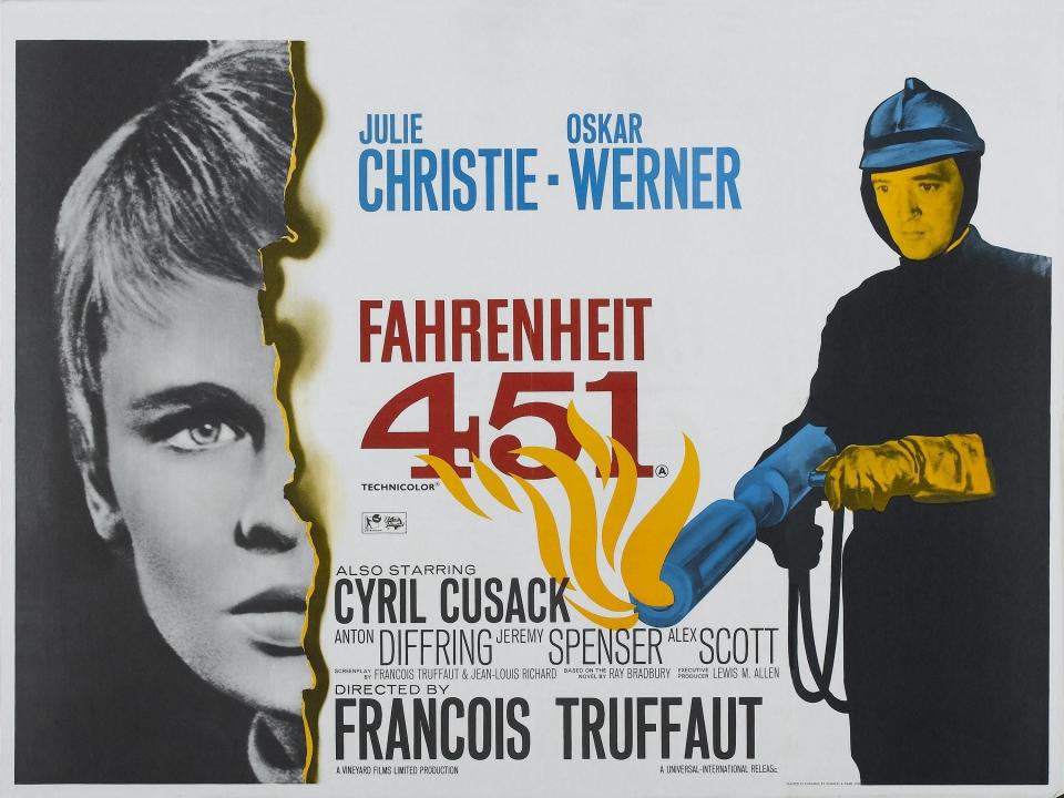 плакат фильма биллборды 451 градус по Фаренгейту