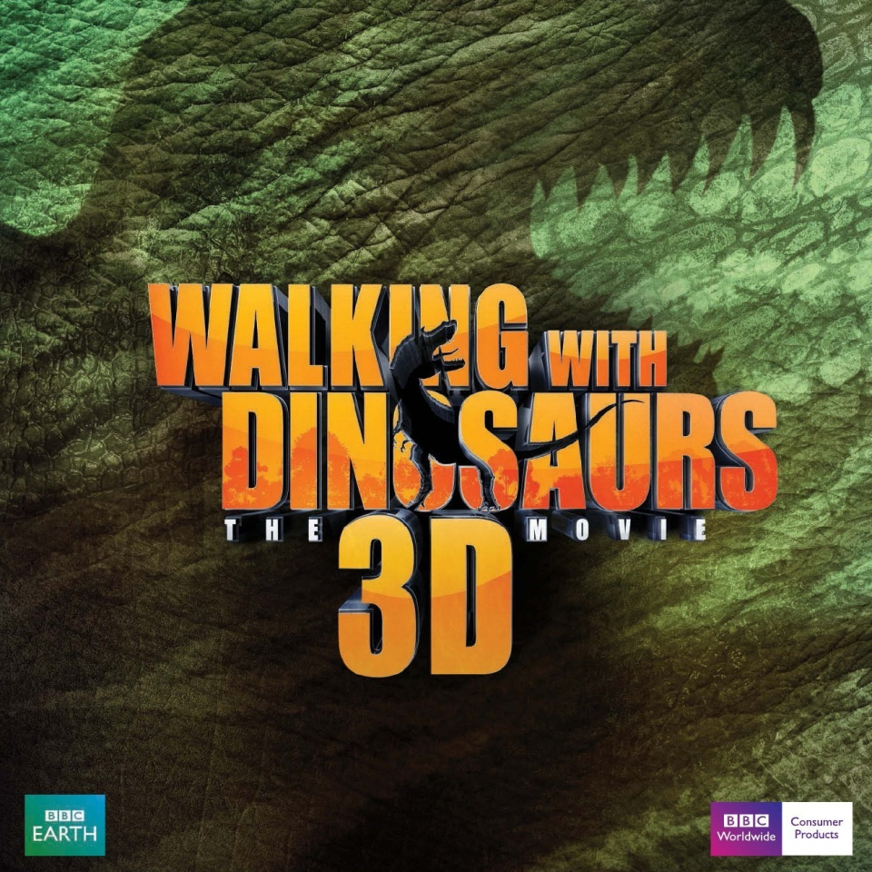 плакат фильма сейлс-арт Прогулки с динозаврами 3D