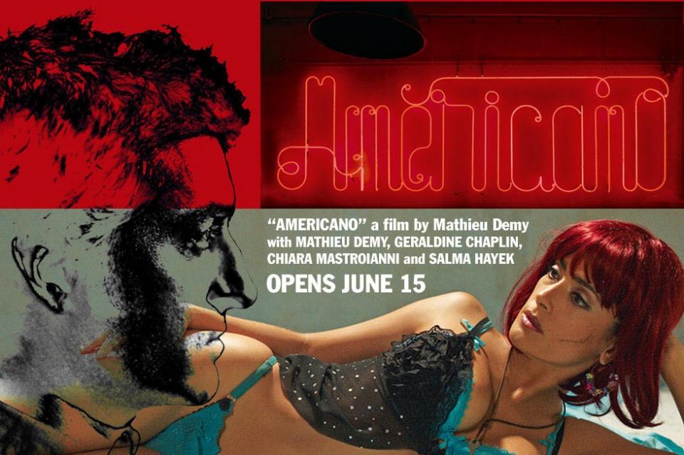 плакат фильма биллборды Американец*