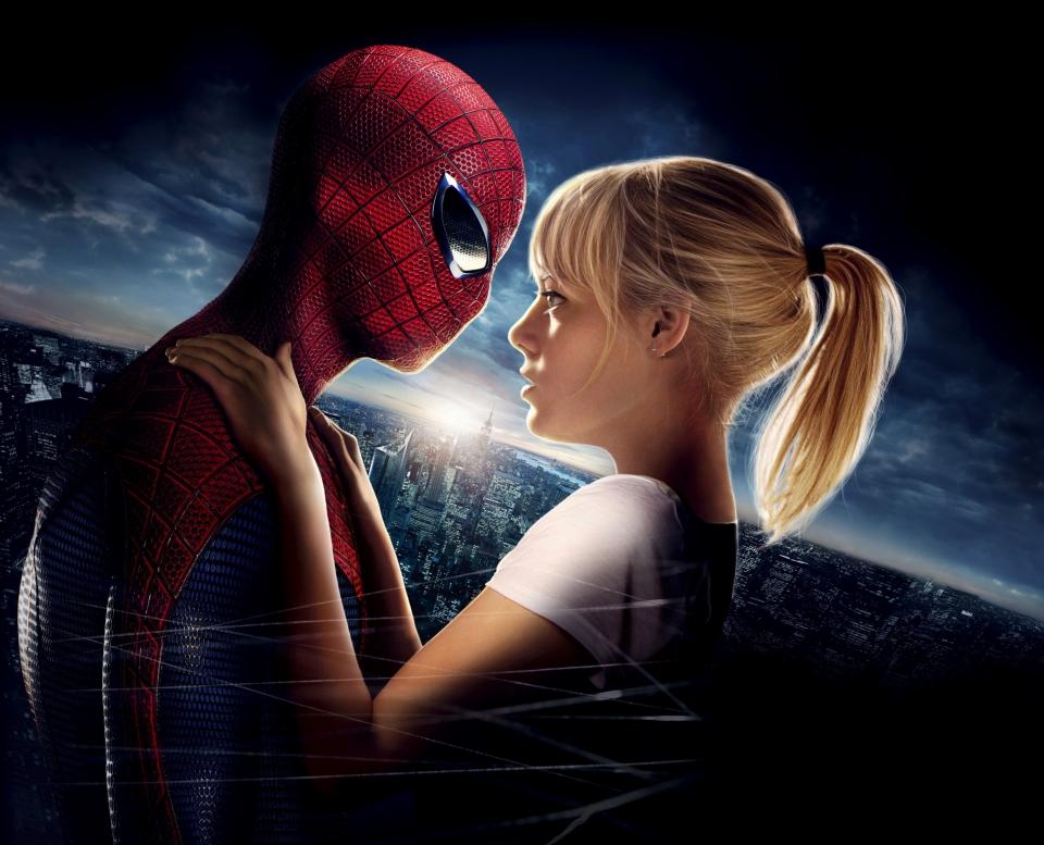 промо-слайды Новый Человек-паук Эндрю Гарфилд, Эмма Стоун,