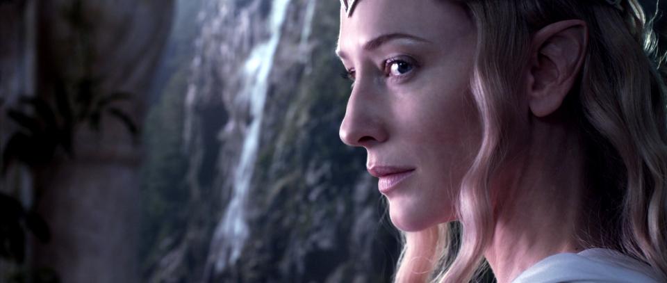 кадры из фильма Хоббит: Нежданное путешествие Кейт Бланшетт,