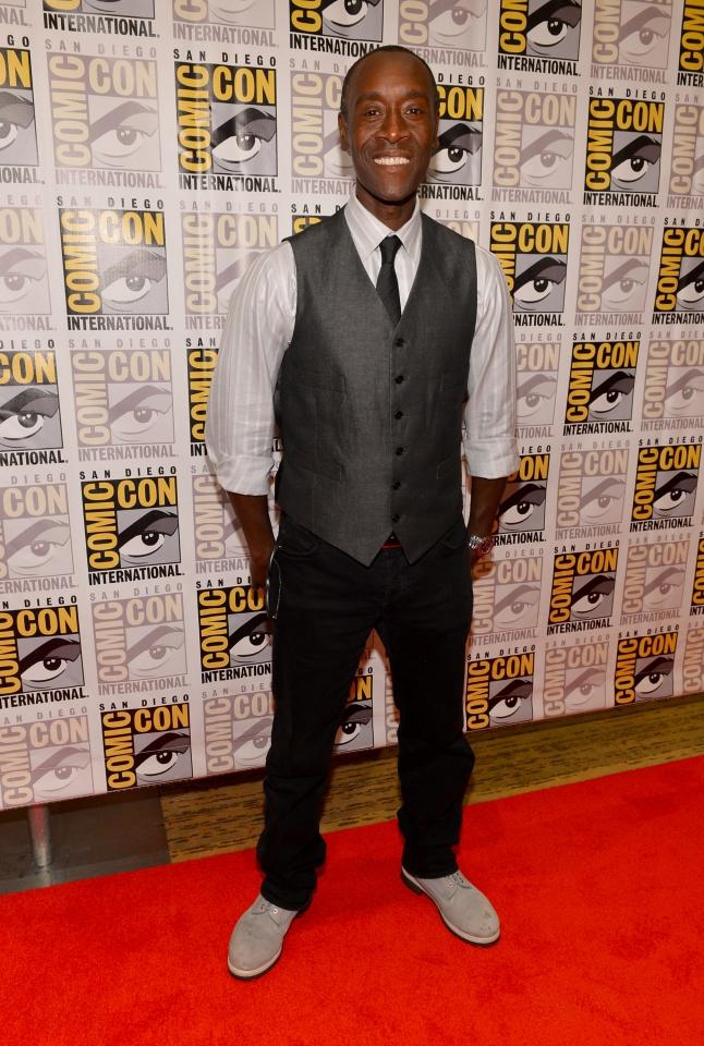 фотосессия «Железный человек 3» на Comic-Con 2012 Дон Чидл,