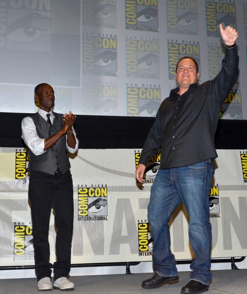 фотосессия «Железный человек 3» на Comic-Con 2012 Джон Фавро, Дон Чидл,