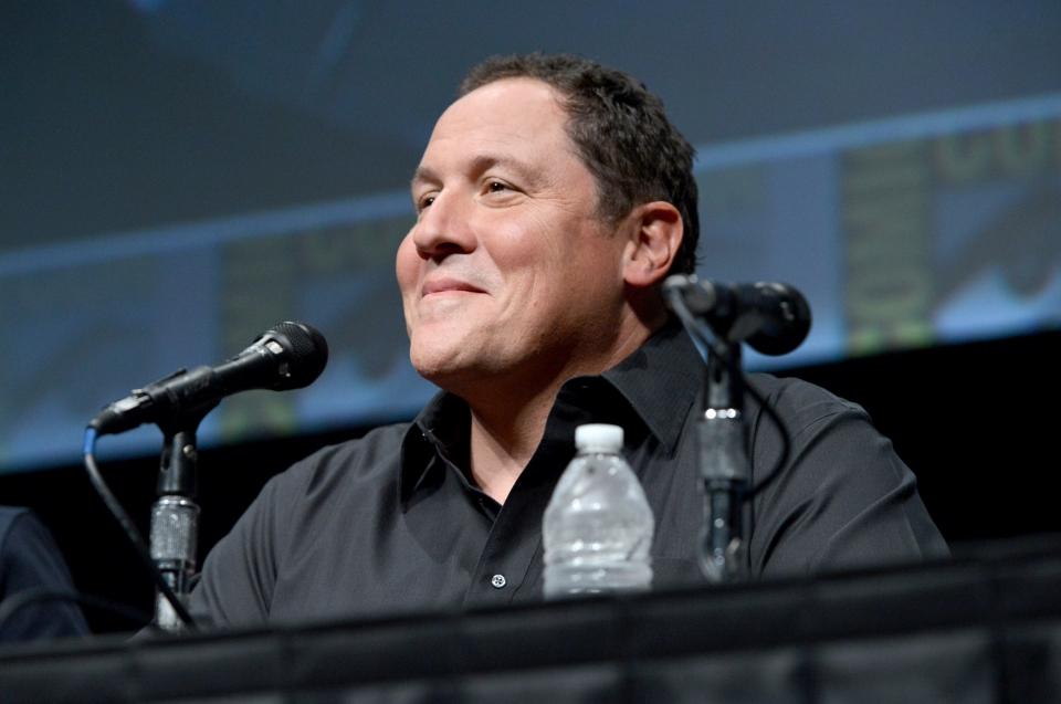 фотосессия «Железный человек 3» на Comic-Con 2012 Джон Фавро,