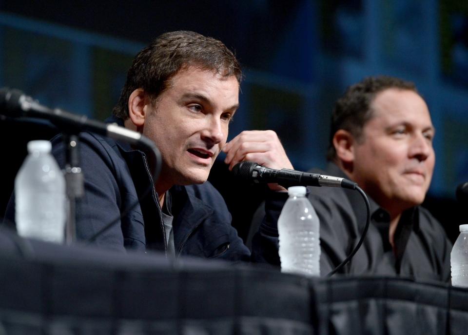 фотосессия «Железный человек 3» на Comic-Con 2012 Джон Фавро, Шейн Блэк,
