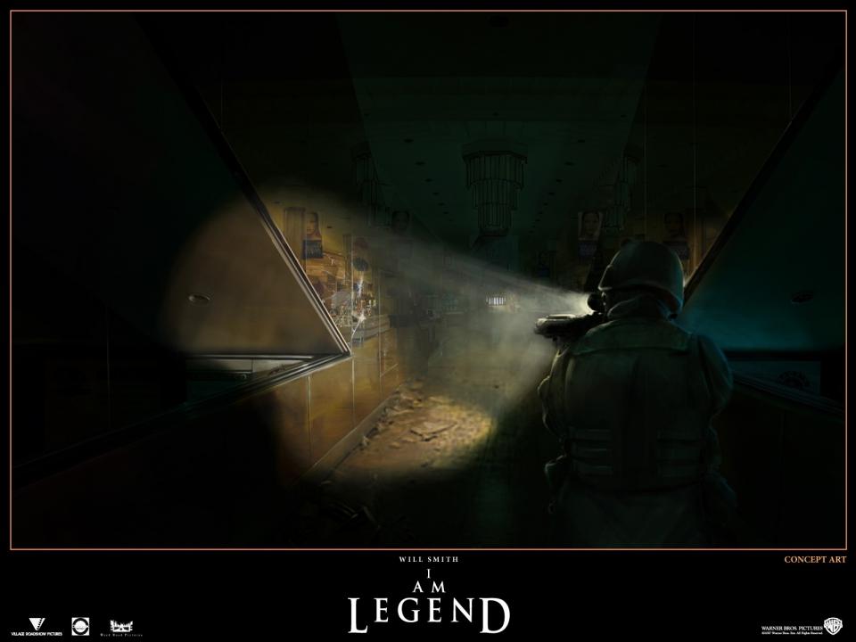 концепт-арты Я — легенда