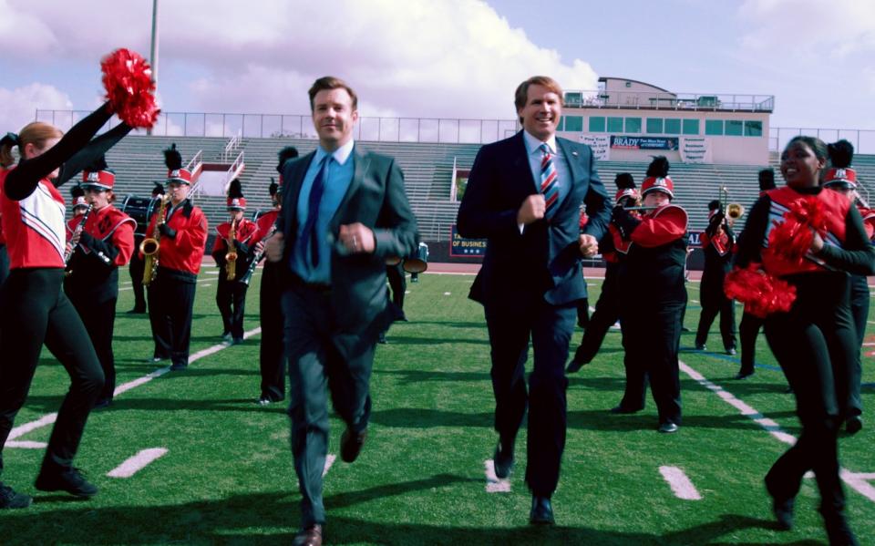кадры из фильма Грязная кампания за честные выборы Джейсон Судейкис, Уилл Феррелл,