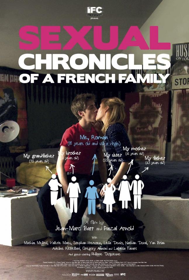 плакат фильма постер Сексуальные хроники французской семьи