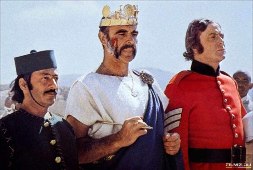 кадры из фильма Человек, который хотел быть королем Майкл Кейн, Шон Коннери,