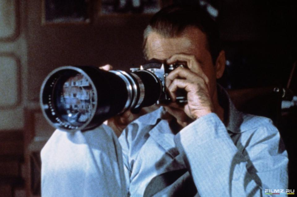 кадры из фильма Окно во двор Джеймс Стюарт,
