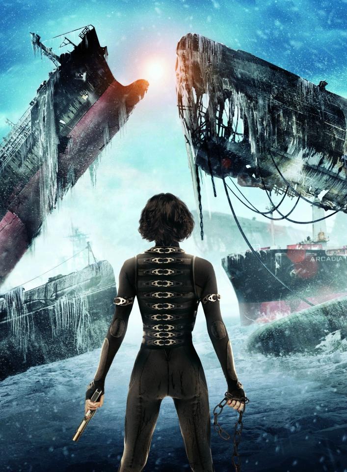 плакат фильма постер textless Обитель зла: Возмездие