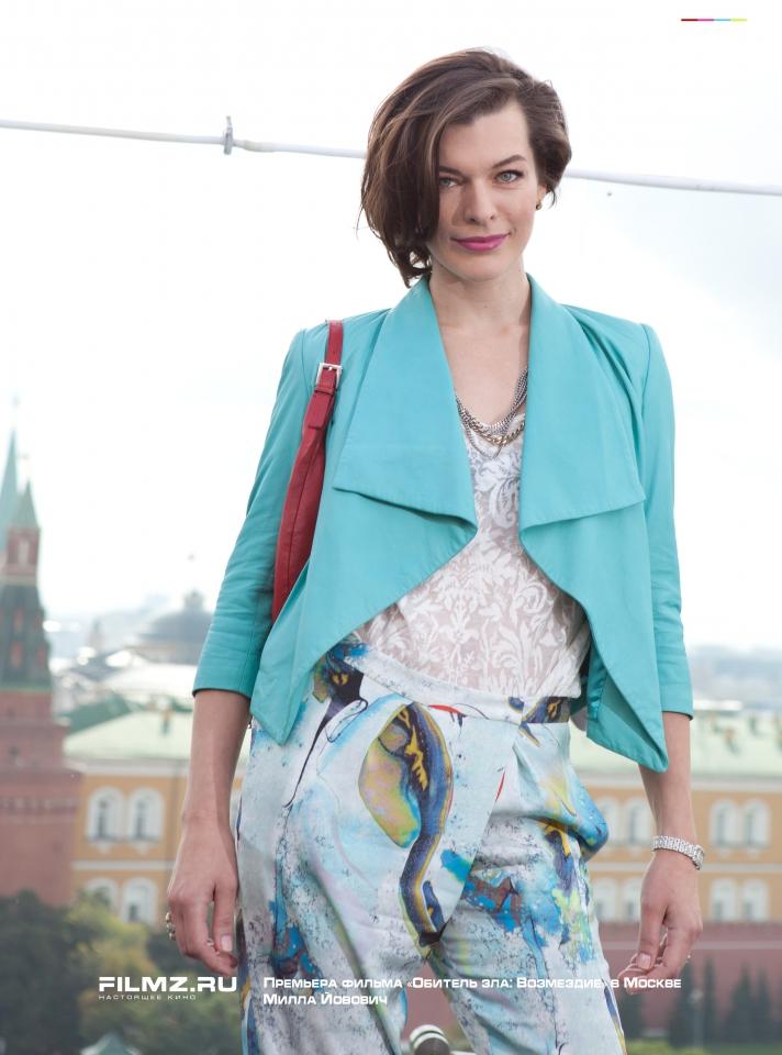 фотосессия Премьера фильма «Обитель зла: Возмездие» в Москве Милла Йовович,