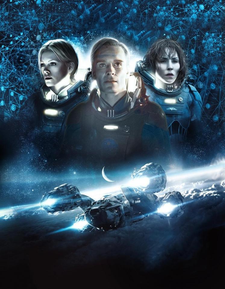 плакат фильма Blu-Ray textless Прометей