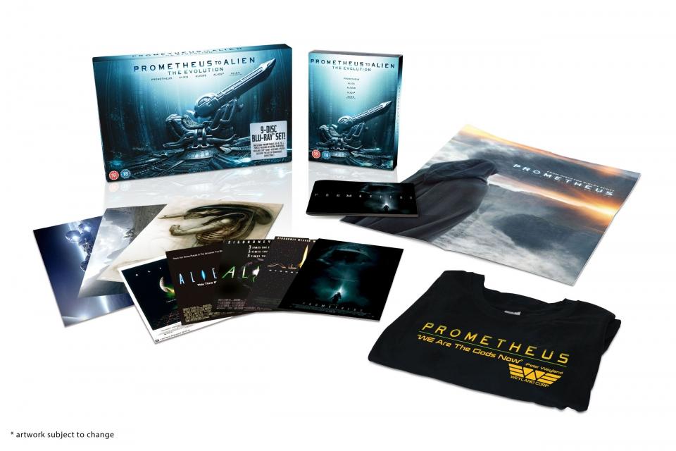 промо-слайды Blu-Ray Прометей