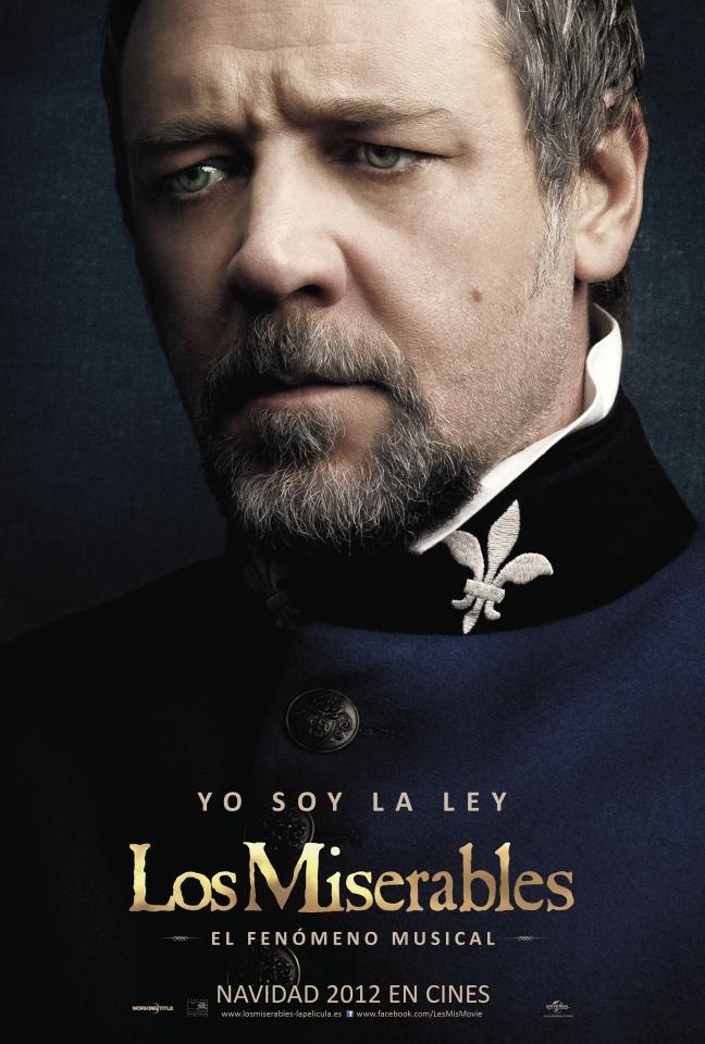 плакат фильма характер-постер Отверженные