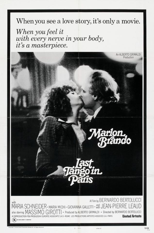 плакат фильма Последнее танго в Париже