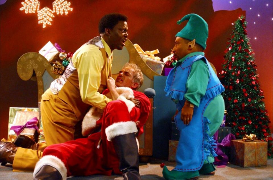 кадры из фильма Плохой Санта Тони Кокс, Берни Мак, Билли Боб Торнтон,