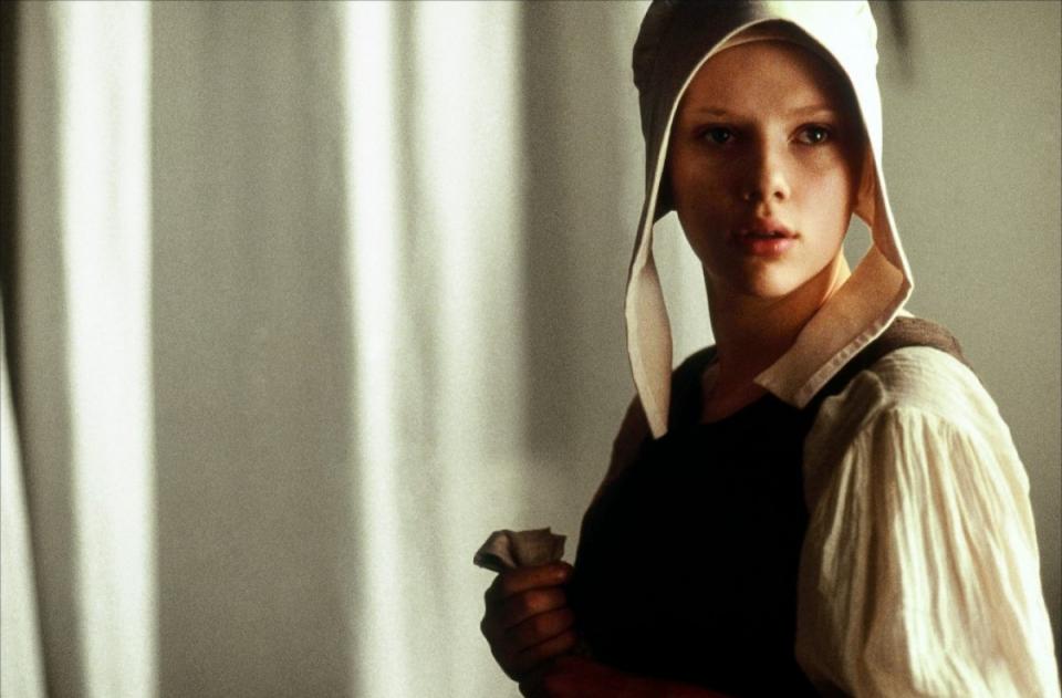 кадры из фильма Девушка с жемчужной сережкой Скарлетт Йоханссон,