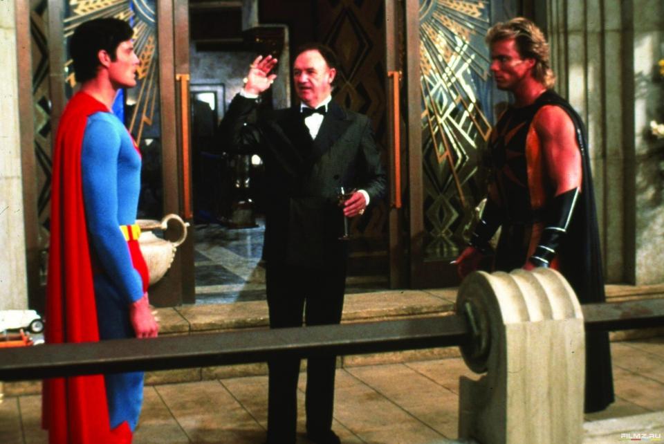 кадры из фильма Супермен IV: В поисках мира Джин Хэкмен, Кристофер Рив,