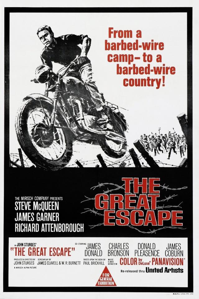 плакат фильма постер Большой побег
