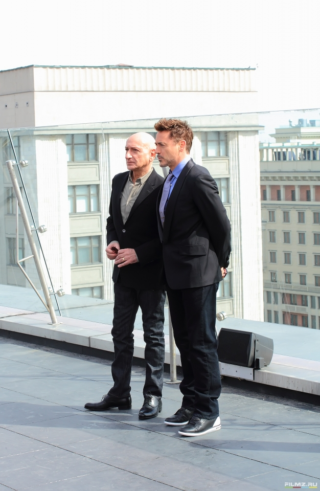 фотосессия Роберт Дауни-мл. и Бен Кингсли в Москве Бен Кингсли, Роберт Дауни-мл.,
